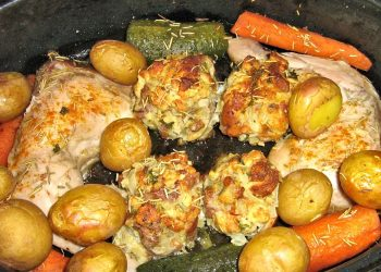 pui la cuptor - sfatulparintilor.ro - pixabay_com - baked-chicken-659747_1920