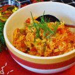 Pilaf de orez cu carnita de pui