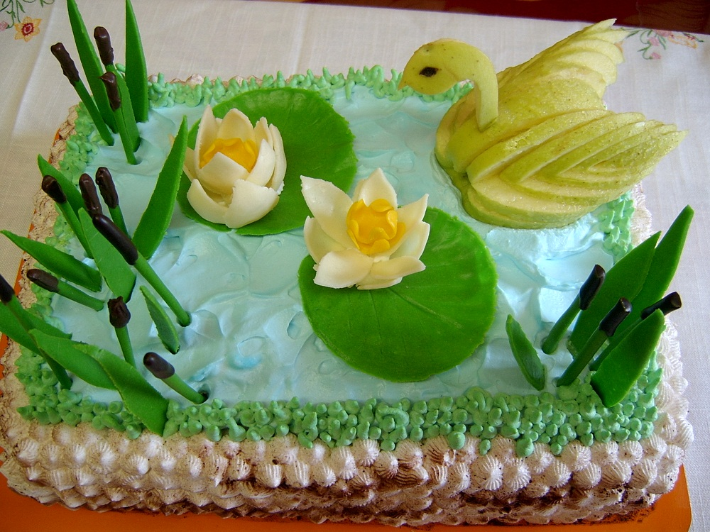 Tort Lebada si nuferi