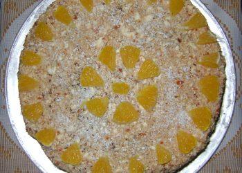 Tort cu crema caramel si nuca de cocos
