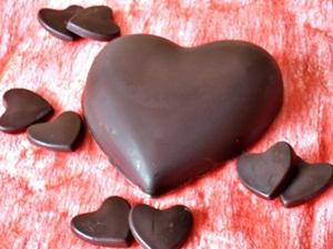 Inima de ciocolata cu crema de cocos
