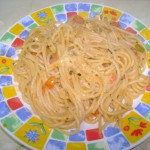 Spaghetti cu piept de pui