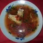 Supa de pui cu rosii