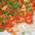 Spaghete cu peste
