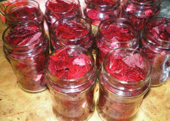 Sfecla rosie la borcan