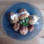 Cartofi copti cu conopida pane si sos de iaurt