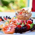 Salata de peste cu sfecla rosie