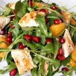 Retete de Revelion: Salata de rucola cu pui, portocala si rodie