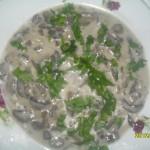 Tocanita de ciuperci cu smantana vegetala (din gris)