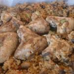 Aripioare aromate cu orez si ciuperci la cuptor