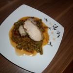 Retete de Pasti: Cotlet de porc la cuptor cu fasole verde