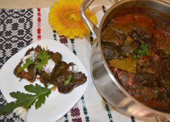 Sarmale cu carne Sarmale cu carne de miel in vita de viede miel in vita de vie