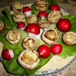 Ciupercute cu cascaval la cuptor