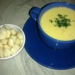 Supa-crema de dovlecei cu piept de pui