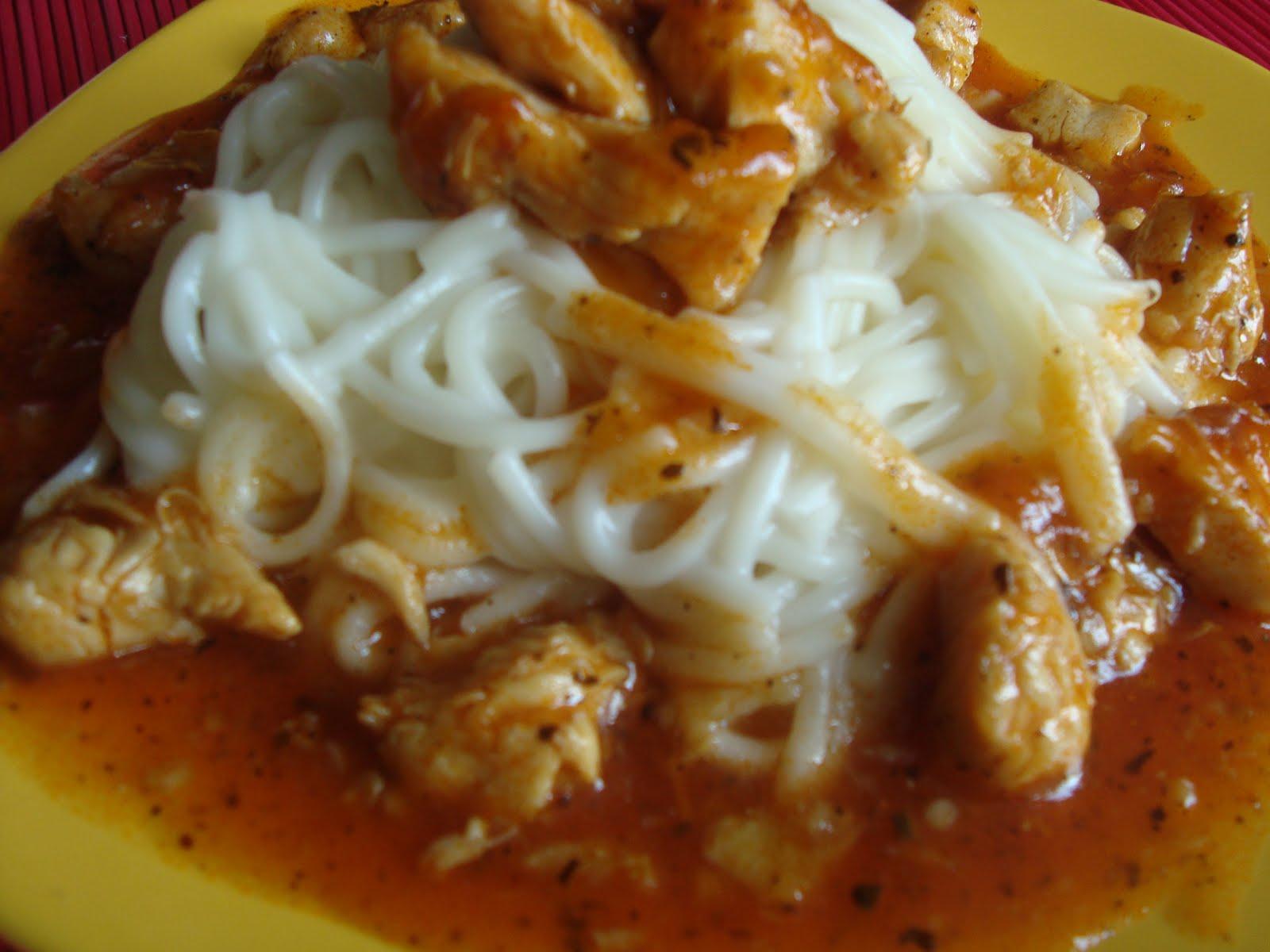 spaghete piept de pui - violeta postolache