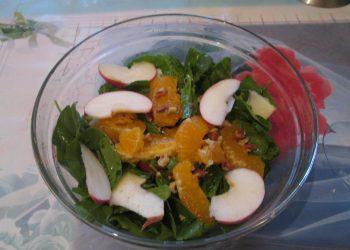 Salata de spanac cu portocala