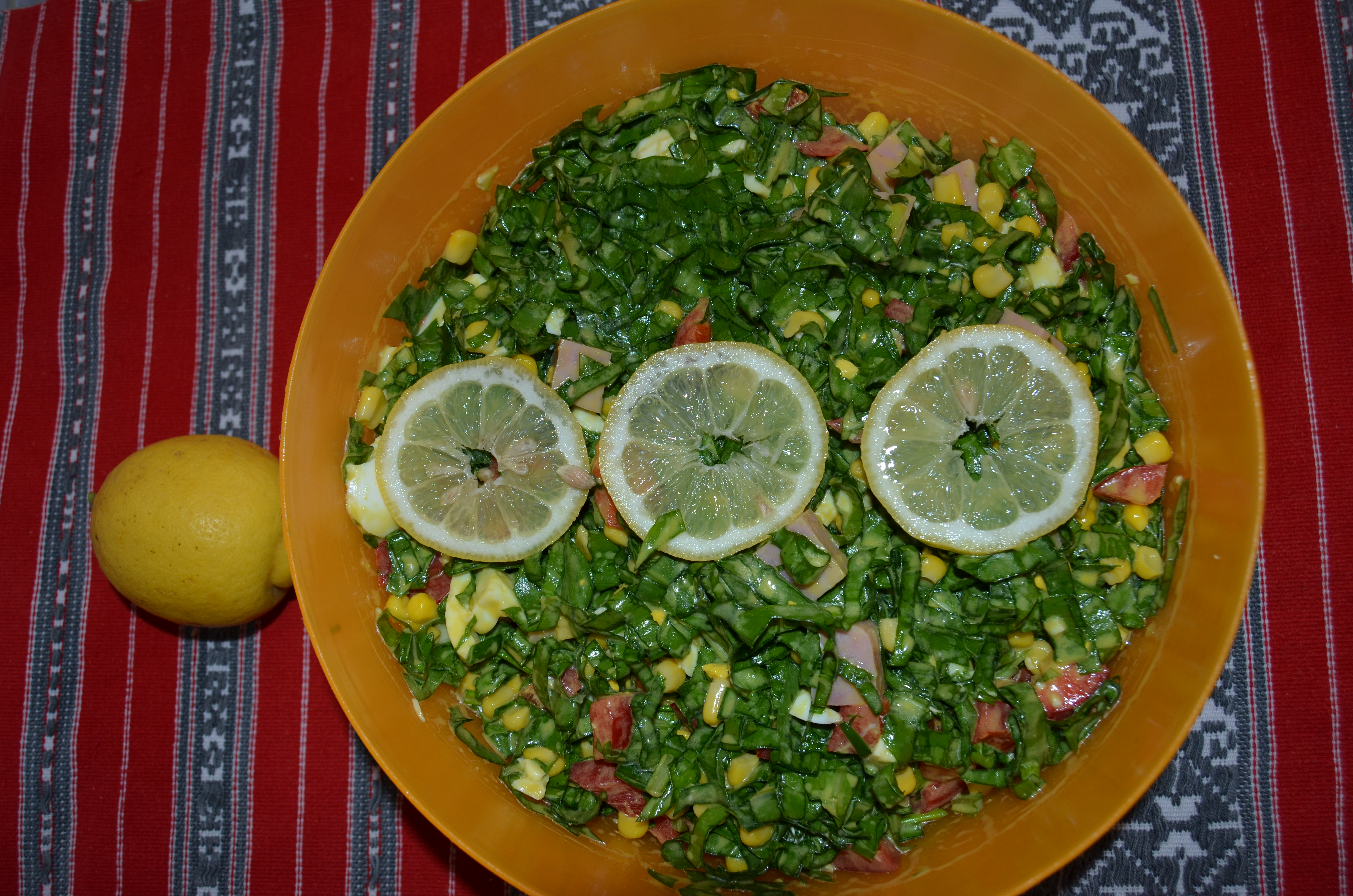 Salata de leurda cu sunca