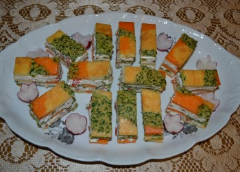 Prajitura aperitiv tricolora