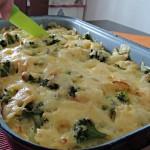 Farfalle cu broccoli la cuptor