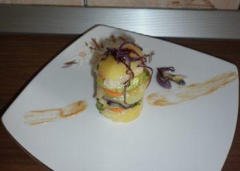 Pește cu legume și sos de muștar