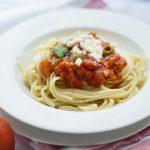 Spaghete cu sunca
