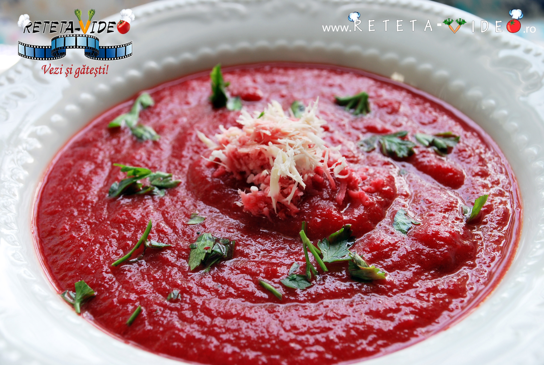 Supa crema de sfecla rosie