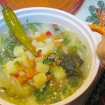 Ciorba de salata verde cu zeama de varza si iaurt
