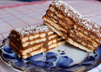 Tort de biscuiti cu crema de cacao