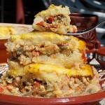 Musaca din cartofi si carne de curcan