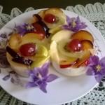 Panna cotta racoritoare cu fructe