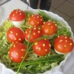 Ciupercute din ou si rosii