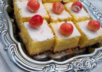 Prajitura cu branza dulce si cirese