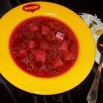 Ciorba de cartofi cu sfecla rosie