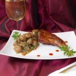 Pulpă de iepure la grătar cu ciuperci soté