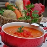 Supa crema de legume si ardei copt