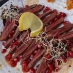 Steak de strut cu glazura de rodii