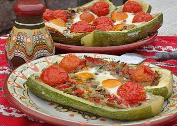 Barcute cu legume la cuptor