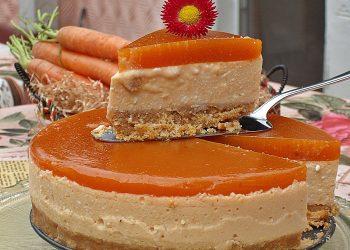 Prajitura cu nectar de morcovi si branza dulce