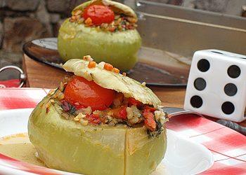 Gulioare umplute cu orez si ciuperci