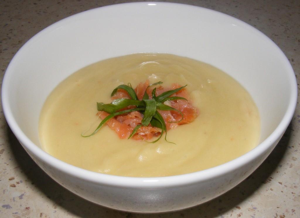 Supa crema de somon afumat