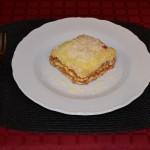 Lasagna bolognese cu carne de vita
