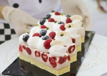 Prajitura cu capsune si crema fina de iaurt