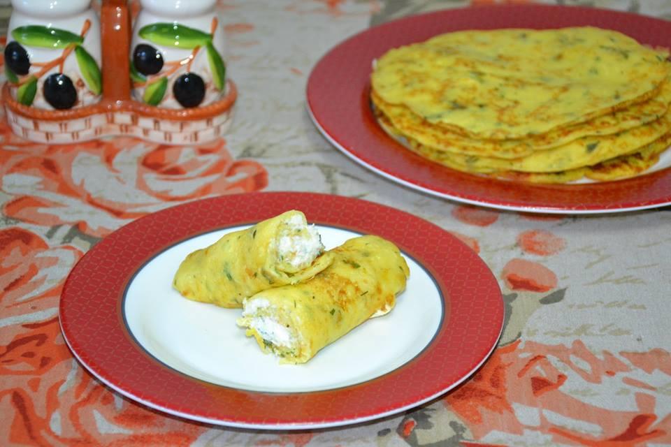Clătite cu brânză și dovlecel