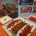 Chiftelute turcesti din carne de strut cu sos de iaurt si rosii