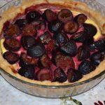 Tarta cu branza si prune