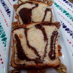 Cozonac moldovenesc cu crema de nuca si ciocolata