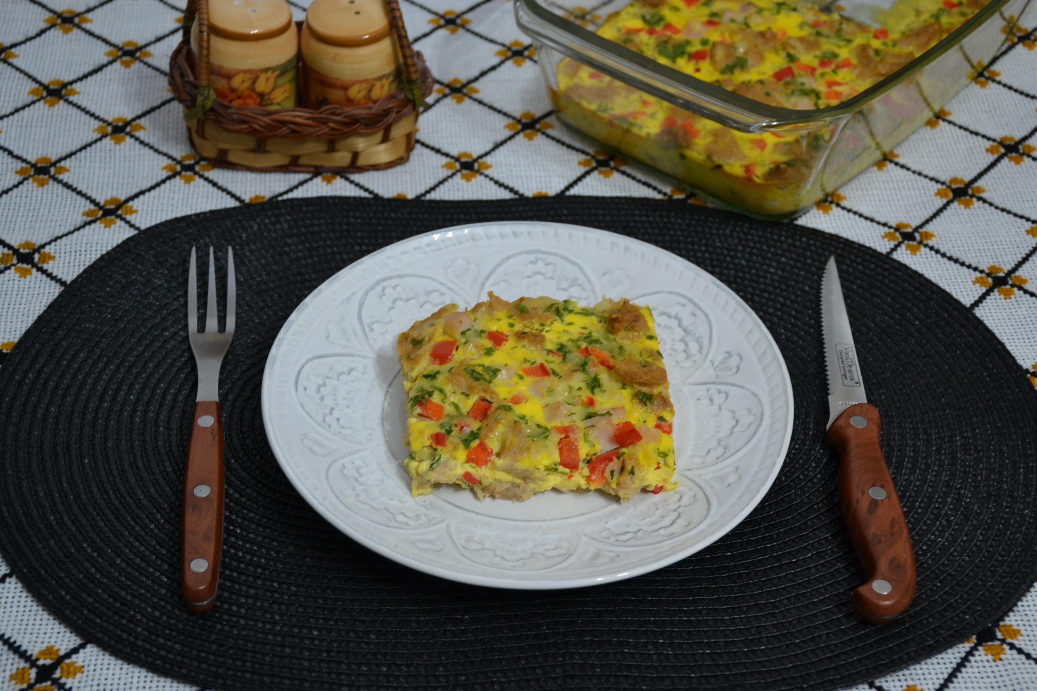 Frittata cu soia ardei si mozzarella