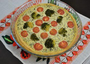 Tarta cu branza broccoli și spanac