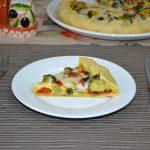 Tarta cu ciuperci, broccoli, ardei, spanac si iaurt