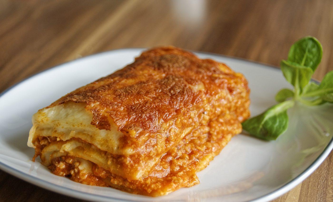 Lasagna cu carne de vita